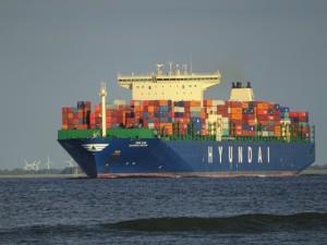 Containerschiffe Positionen Bild